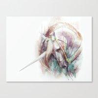 unicorn Canvas Prints featuring Unicorn by beart24