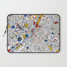 Paris Mondrian Map Art Laptop Sleeve