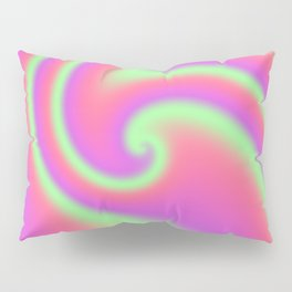 Tutti Frutti Ribbon Candy Fractal Pillow Sham