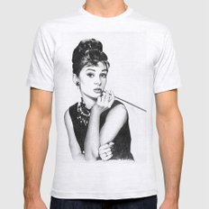 audrey hepburn breakfast at tiffany's Mens Fitted Tee Ash Grey SMALL