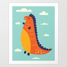 Funny Dinosaur Art Print