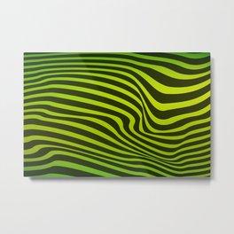 Abstract Zebra Lines 3 Metal Print