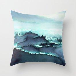 French Mountains Throw Pillow