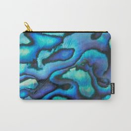 Blue Paua Abalone Shell Carry-All Pouch