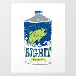 Big Hit Beer Art Print