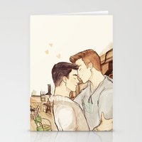 klaine Stationery Cards featuring klaine at the loft by suitfer