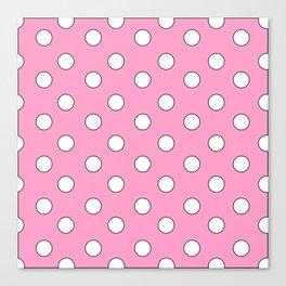 Pink Pastel Polka Dots Canvas Print