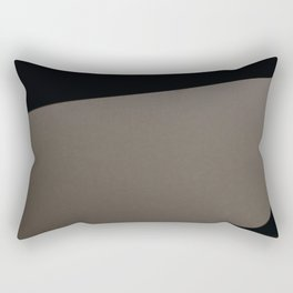 Simple black and grey forms Rectangular Pillow