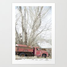 red truck Art Print