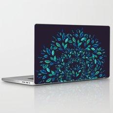Blue Leaves Mandala Laptop & iPad Skin