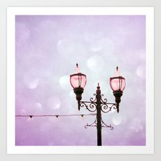 Lamplight of Cotton Candy Dreams Art Print