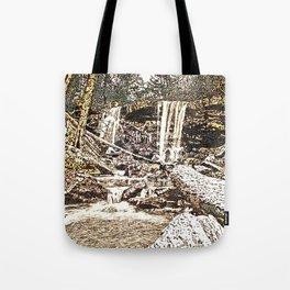 Waterfall, Valley Falls, Fairmont, WV Tote Bag