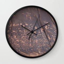 Newspaper Rock Wall Clock