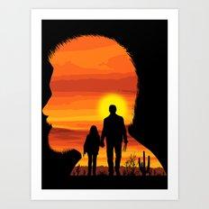 The last walk Art Print