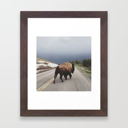 Street Walker Framed Art Print