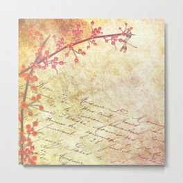 Stationery Texture Paper Metal Print