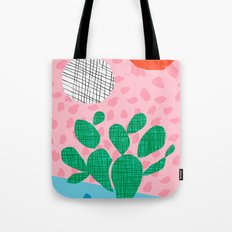 Lampin' - memphis throwback style retro neon cactus desert palm springs california southwest hipster Tote Bag