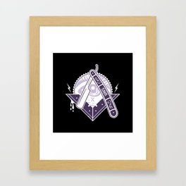 Stay Sharp - Razor Framed Art Print