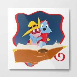 Simsala Grimm - Yoyo and Doc Croc Metal Print