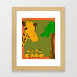 Mamma Giraffe Framed Art Print
