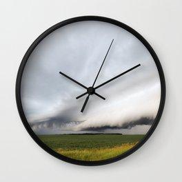 Beautiful Shelf Clouds Wall Clock