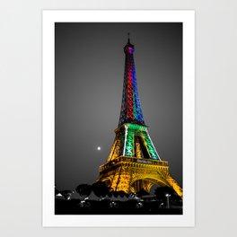 Couleur - Eiffel Tower Art Print