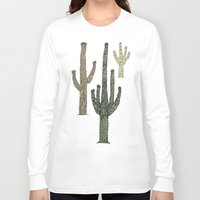 cactus Long Sleeve T-shirts featuring Cactus by Hinterlund