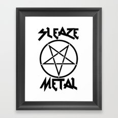 SLEAZE METAL Framed Art Print