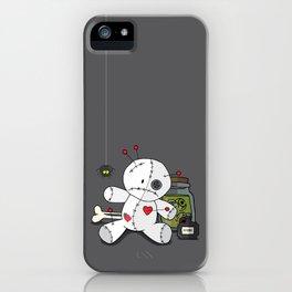 Voodoo doll shelf iPhone Case