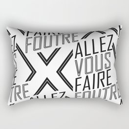 Allez Vous Faire Foutre Rectangular Pillow