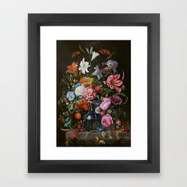 Vase of Flowers II Jan Davidsz de Heem Framed Art Print