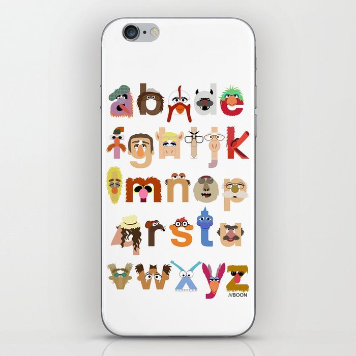 The Great Muppet Alphabet (the sequel) iPhone Skin