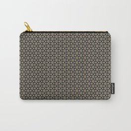 Brown Gold Elegant Pattern Carry-All Pouch