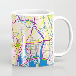 Tokyo Map Design Coffee Mug