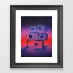 Sunset Prayer Framed Art Print