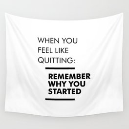 Remember Why You Started - Workout Inspirational Wall Tapestry