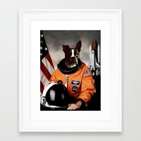 spaceman Framed Art Prints featuring Spaceman by Adam Doyle