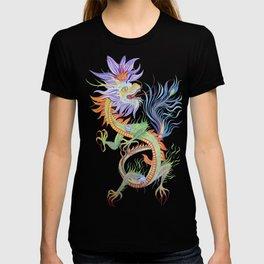 Bright and Vivid Chinese Fire Dragon Vector T-shirt