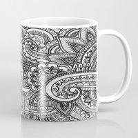 paisley Mugs featuring Paisley by Emma Lin