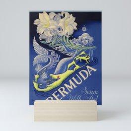 Vintage Mermaid Bermuda Mini Art Print