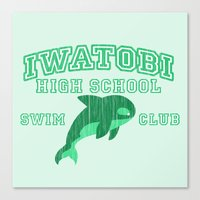 iwatobi Canvas Prints featuring Iwatobi - Orca by drawn4fans