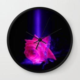Waterfall Rose Wall Clock