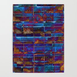 Colourful abstract pattern design Poster