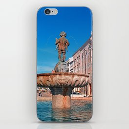 Naked boy bum on the water iPhone Skin