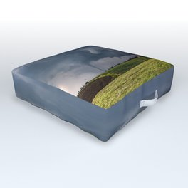 Twins - Two Tornadoes Touch Down Near Dodge City Kansas Outdoor Floor Cushion