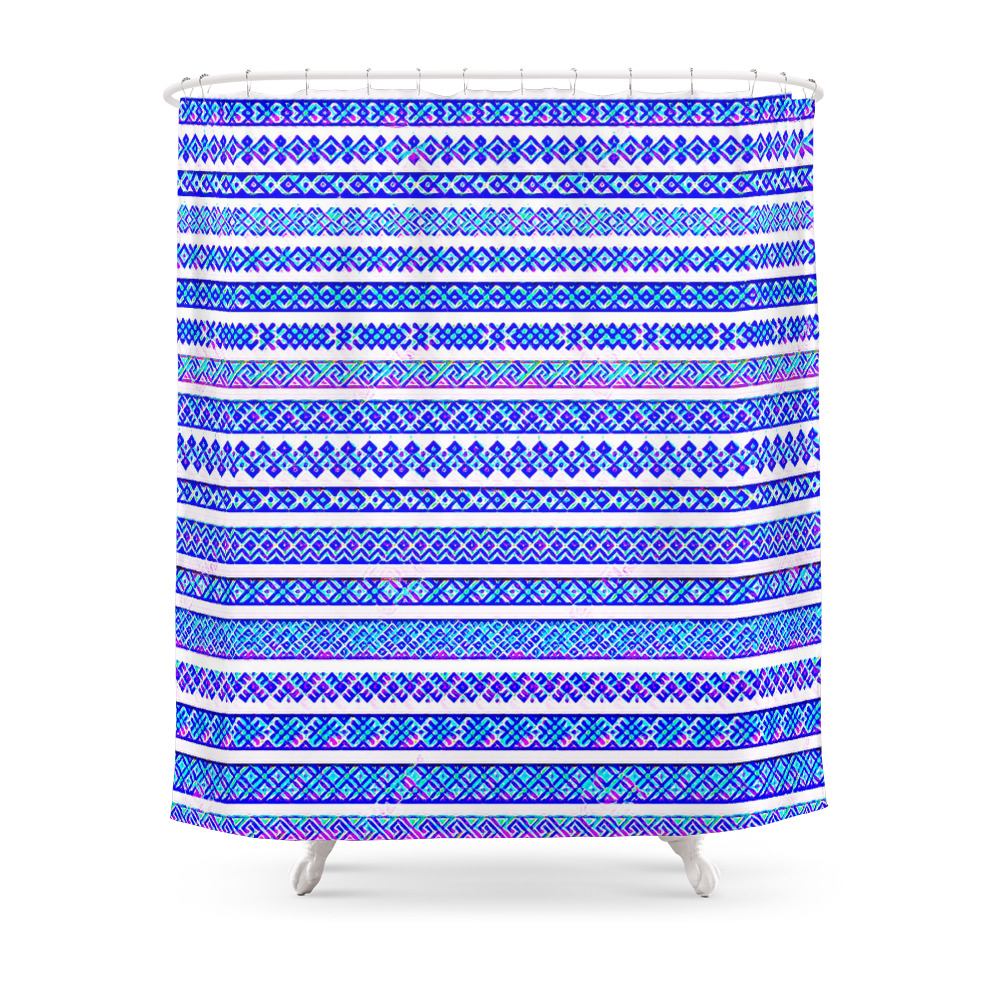 Blue_And_Purple_Friendship_Bracelets_Shower_Curtain_by_jellyrelish
