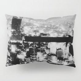 New Yorker Sitting On A Ledge Pillow Sham
