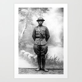 Harry S. Truman - WWI Military Uniform Art Print