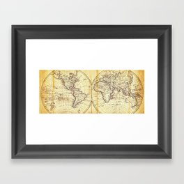 The world in hemispheres 1825 Framed Art Print