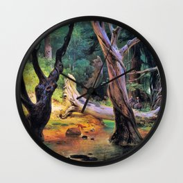 Horace Vernet - Departure For The Hunt In The Pontine Marshes - Digital Remastered Edition Wall Clock